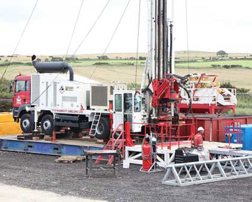 Drilling rig for temporary boreholes situated south east of Hawsker (Image credit: York Potash Project)