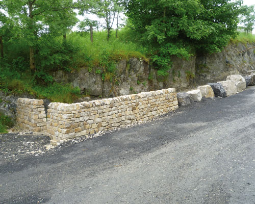 Walled outcrop. Credit: Hanson UK