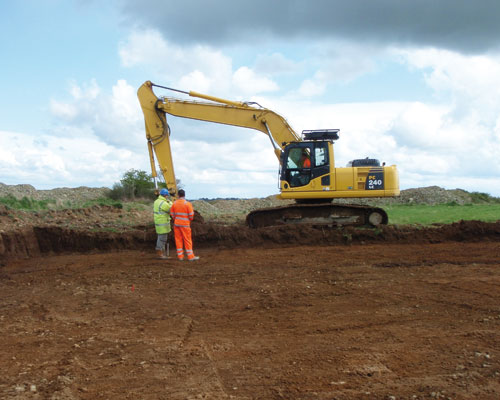 Digger on an excavation site. Credit: Archaeological Research Services