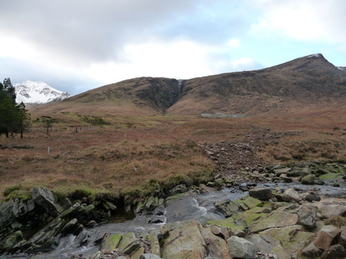 Tyndrum Mine: view of Ben Lui from site track (Image credit: Brodies)