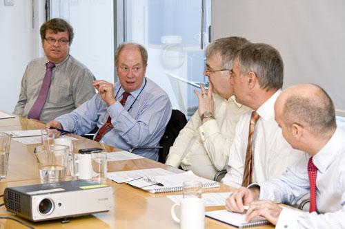 Focus group: (left to right) Richard Read, Peter Huxtable, Rod Bull, Ken Hobden and Stuart Lenton (Image credit: Julian Dodd)