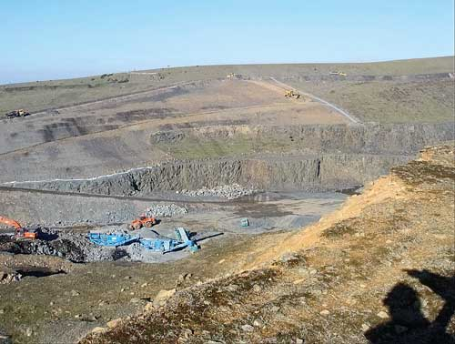 Mining waste sites: lack of a dam or structure indicate that this is a mining waste operation (Image credit: Environment Agency)