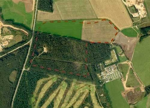 Melville Gates: red squirrels would be displaced (Image credit: Dalgleish Associates)