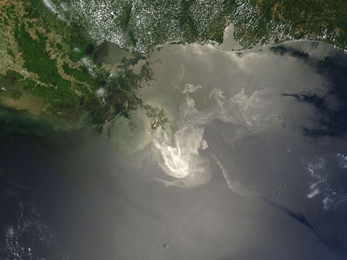 Gulf of Mexico: extensive compensation costs (Image credit: NASA)