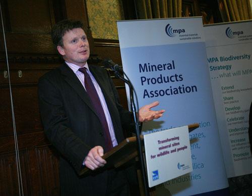 Environment minister Richard Benyon at launch of MPA Biodiversity Strategy (credit MPA)
