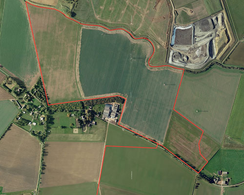 Peterborough City Council has approved a plan for the extraction of 2.25 million tonnes of sand and gravel over 12 years at a site near Thorney. Credit: GP Planning