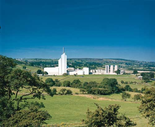 Cauldon Cement Works: Lafarge has received permission to increase its range of green fuels (Image credit: Lafarge Cement UK)