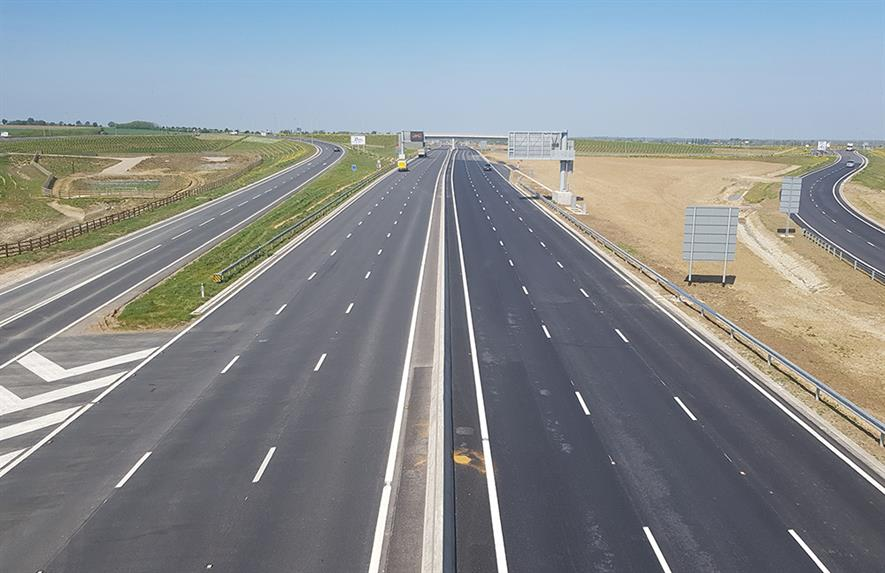 More than 1.6 million square metres of road was constructed and surfaced