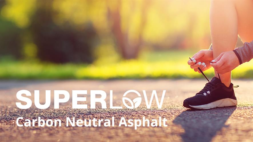 The Super Low mix requires lower temperatures to make and apply, allowing the asphalt to cool to trafficking temperature quicker, according to Aggregate Industries
