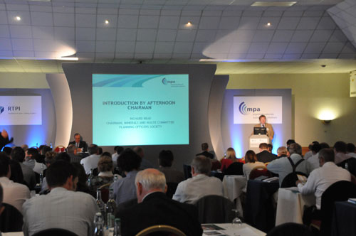 Richard Read: introducing the afternoon session (Image credit: Mineral Products Association)