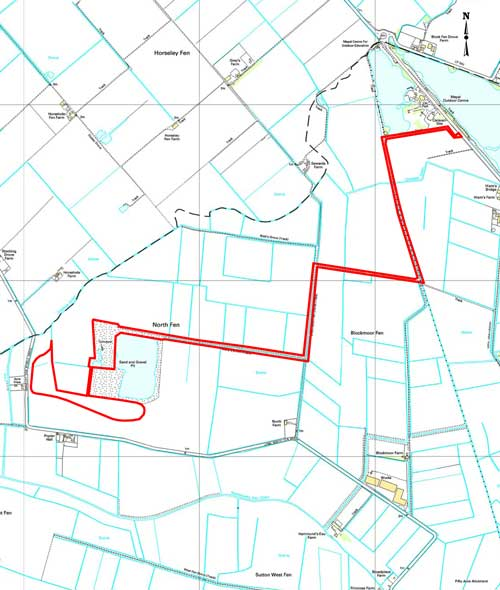 Sutton: application for sand and gravel extraction to increase capacity of reservoir approved (Image credit: Cambridgeshire County Council based on Ordnance Survey Mapping Crown Copyright AM66/10)