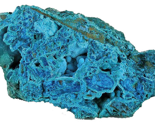 NIR detects ores of copper such as chrysocolla. Credit: Emma Jackson