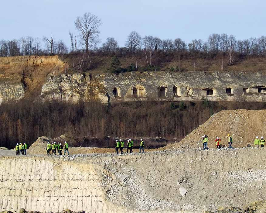 The ENCI limestone quarry in Maastricht, Netherlands, is a Restore project site