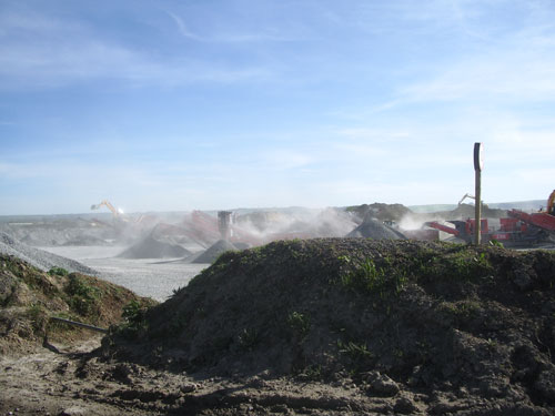 Dust can harm employees' health, reduce visibility, damage equipment and annoy neighbours
