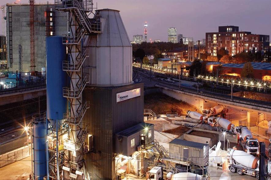 Hanson's London concrete plant in King's Cross receives aggregates and cement by train