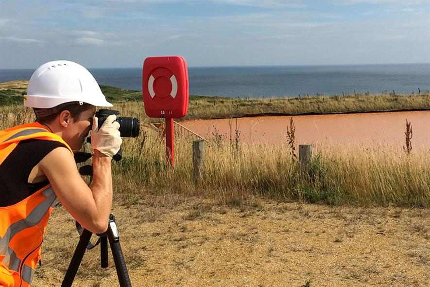 Artist Onya McCausland visited former coal mines across the UK to collect samples of ochre