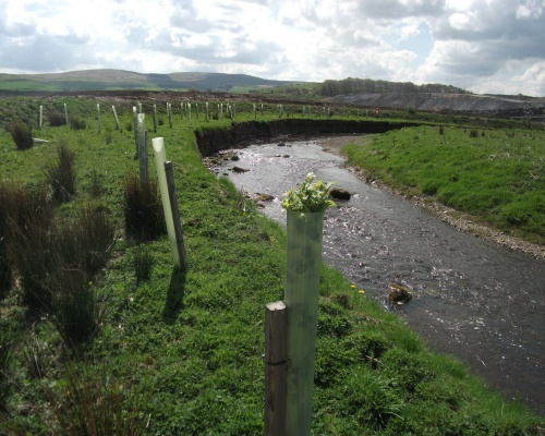A 500m length of the river Nith was diverted. Picture: Kier Mining