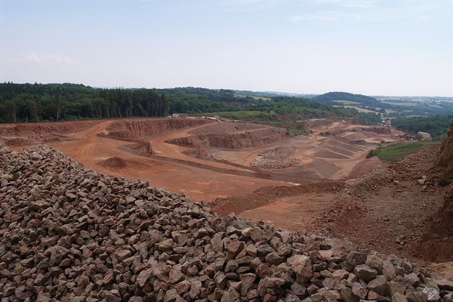 Stowfield quarry in the Forest of Dean. Photograph: Gloucestershire County Council