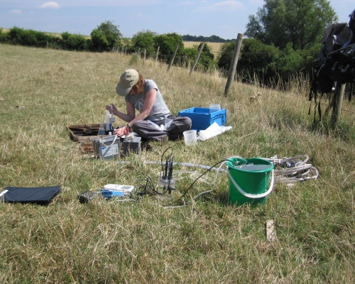 Geological experts test groundwater in a shale research project. Picture: BGS