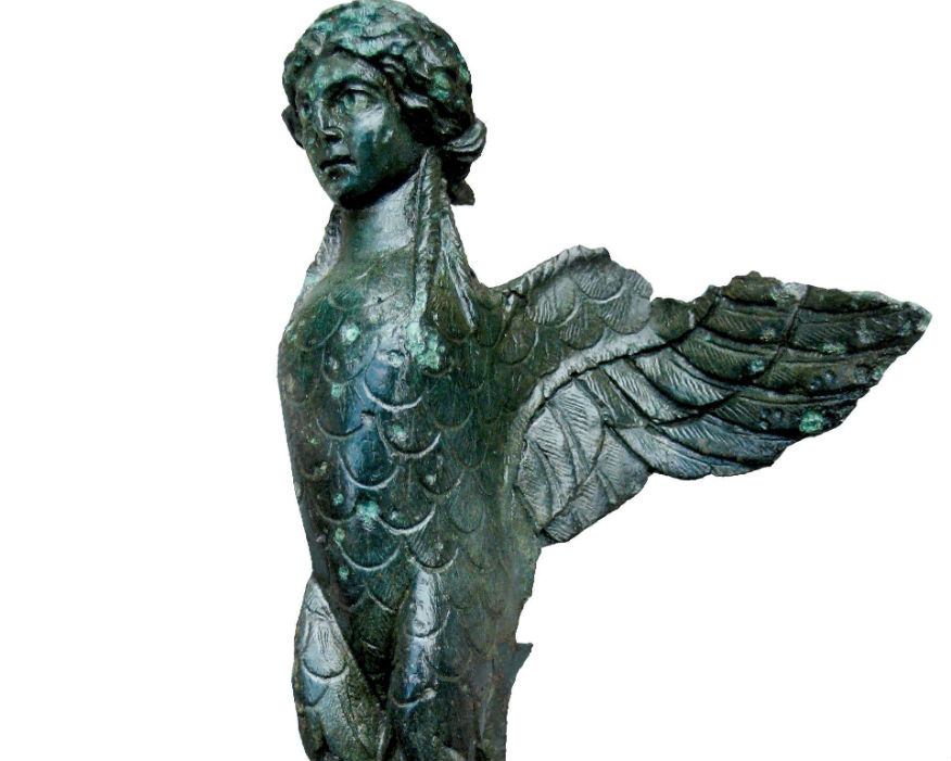 Roman treasures including a statue of a harpy were found at a Brett quarry. Picture: Brett