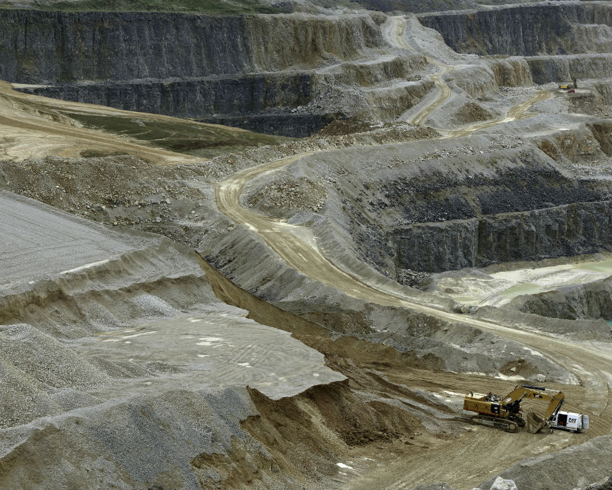 Large-scale industrial aggregates has a huge visual impact. Picture: Colin Shaw