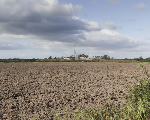 A computer image of the proposed Roseacre Wood site. Picture: Cuadrilla