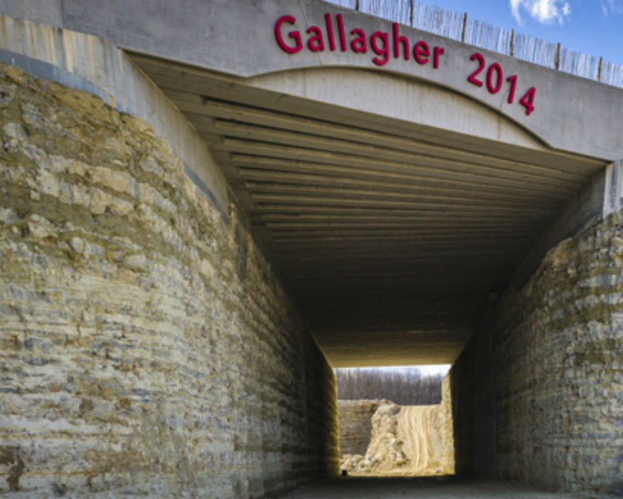 The 100-metre long tunnel has 102 pre-cast beams. Picture: Gallagher