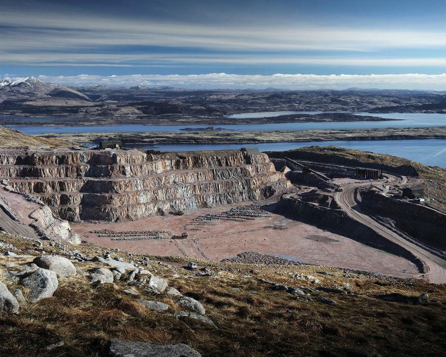 Glensanda granite quarry near Oban on the west Scotland coast. Picture: Aggregate Industries
