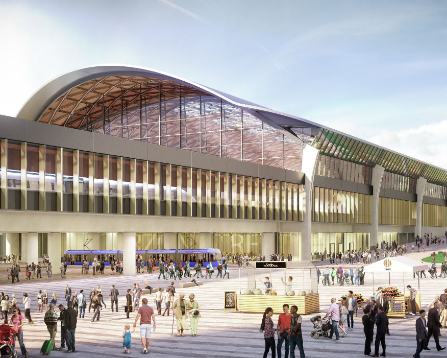 Curzon Street Station, Birmingham, will be a catalyst for £900m of growth. Picture: HS2