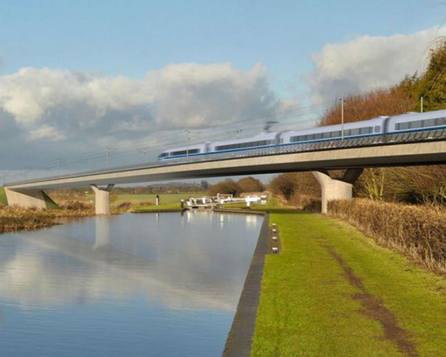 Computerised image of HS2, which involved Carillion. Picture: HS2