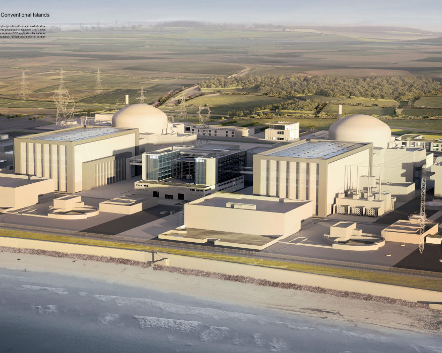 Shortages of aggregates could jeopardise projects such as Hinckley Point C. Picture: EDF