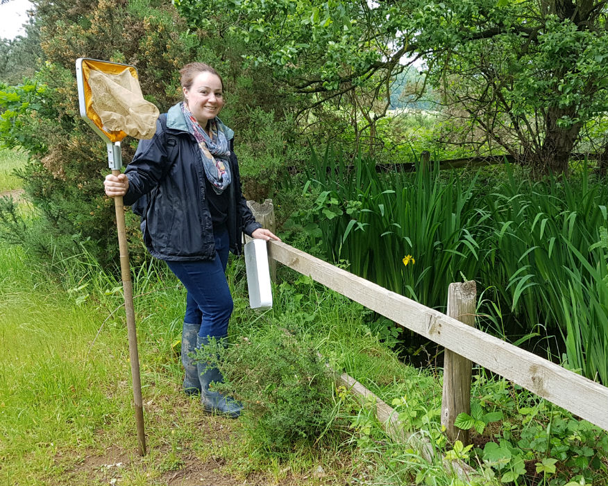 Indea Chawk is England's first ever local authority newt officer. Picture: Central Bedfordshire