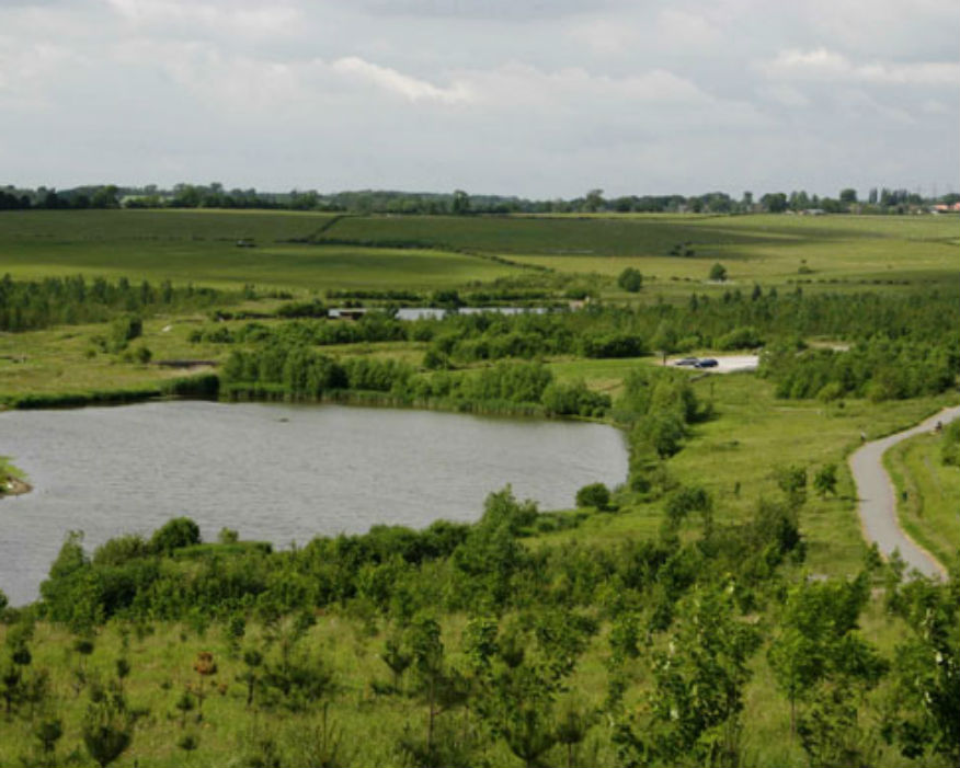 Sence Valley was a 60-hectare open cast coal mine. Picture: NFC