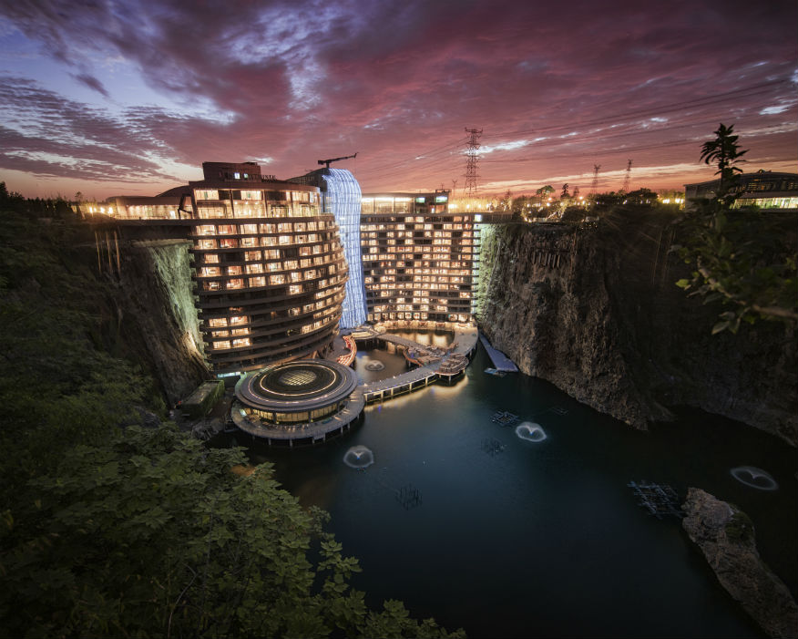 The quarry hotel recently opened. Picture: Blackstation & Kevin