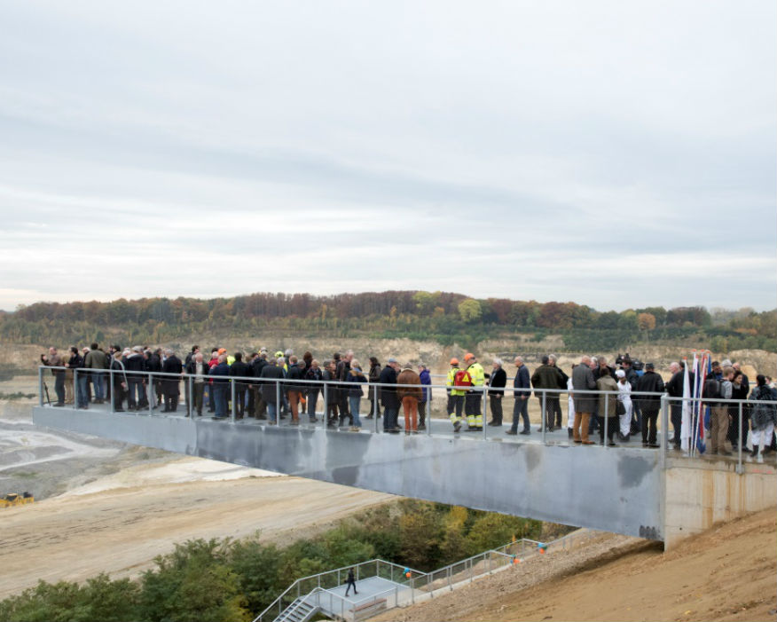 The closing event was held at a new 50m-high quarry stairway. Picture: ENCI