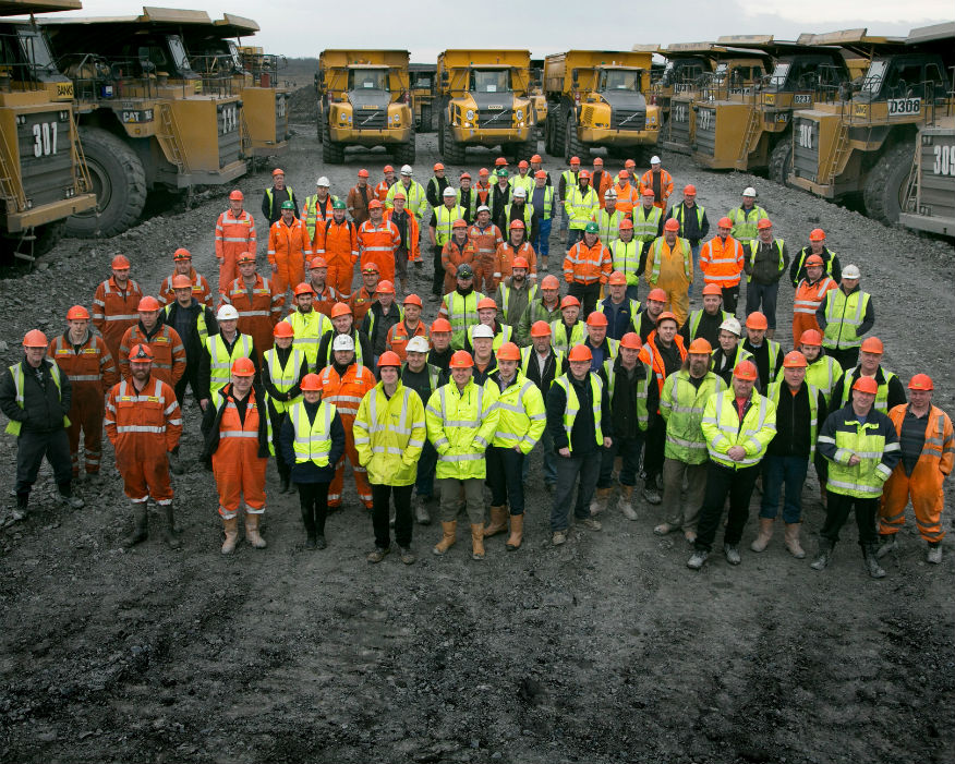 The team at the Shotton surface mine near Cramlington. Picture: Banks