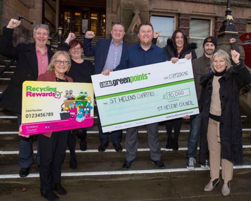 Locals recycled waste raise £10,000 for charities. Picture  Local Green Points