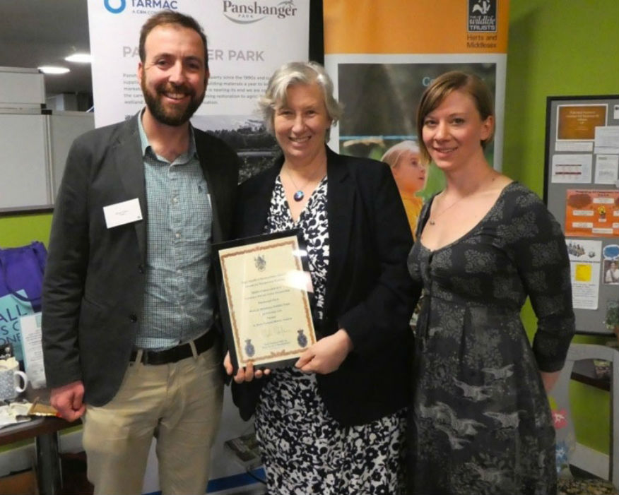 Tarmac shared the award with local histroy and conservation groups. Picture: Tarmac