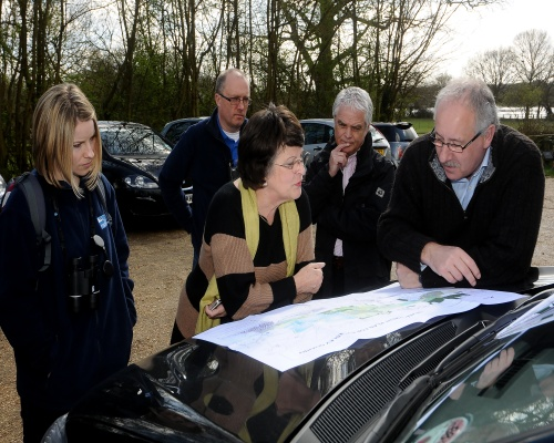 MEP Catherine Bearder checks out Eversley. Picture Cemex UK