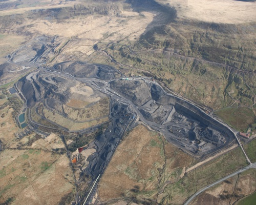 The huge Tower surface mine at Hirwaun, south Wales. Picture: Hargreaves