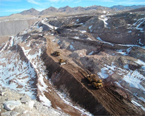 Beryllium mined at Spor Mountain, Utah, by Materion Brush Natural Resources. Picture: Materion Group