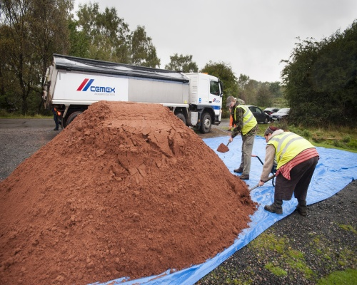 Cemex supplied 120 tonnes of sand for the restoration. Picture: Cemex