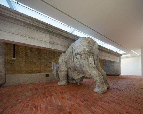 Adrián Villar Rojas made his elephant out of 1.5 tonnes of cement. Picture: Serpentine Sackler Gallery/Jörg Baumann