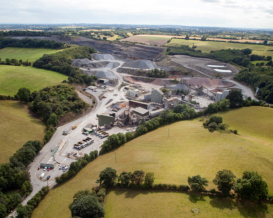 Mancetter quarry was an ideal location for the trial. Photograph: Tarmac