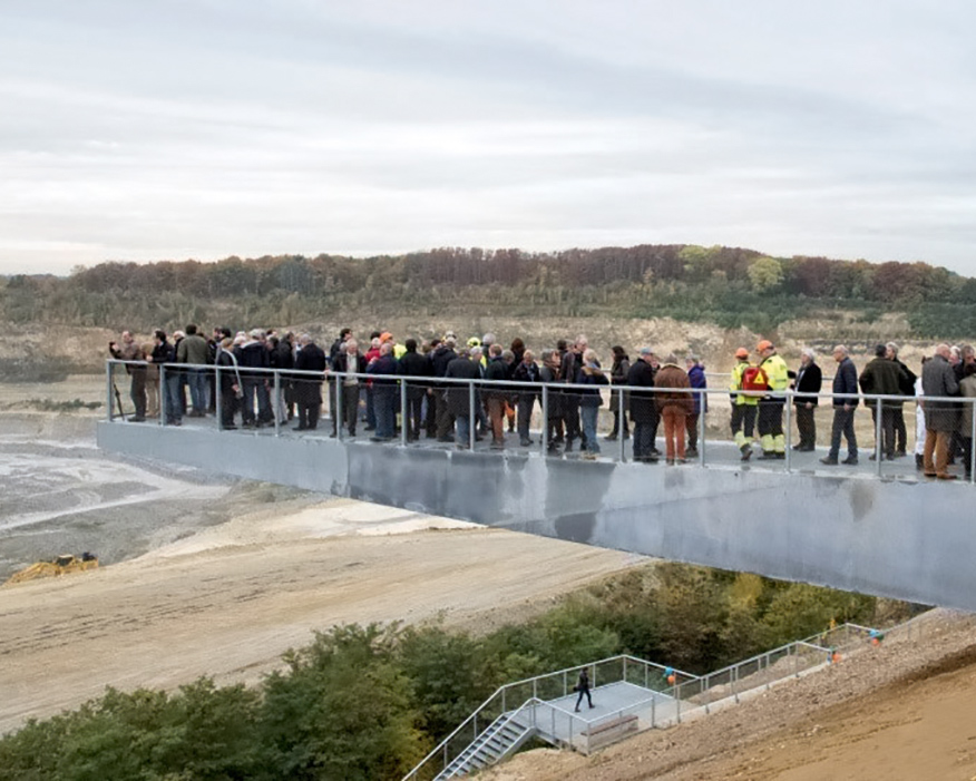 The Restore programme ended with the launch of a 50 metre-high quarry stairway in Maastricht. Photograph: ENCI