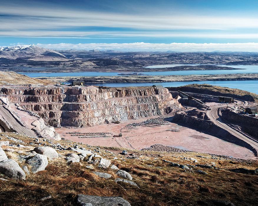 Glensanda quarry on Scotland's west coast. Photograph: Aggregate Industries