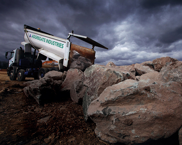 The industry is working to improve road safety. Photo:Aggregate Industries
