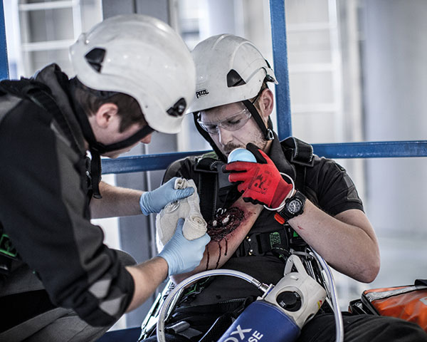 First-aid training is an important part of safety policy, but enabling people to think and act for themselves to prevent incidents makes for a safer woekplace. Photo: Maersk Training/Doug Pittman