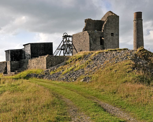 Former Magpie mine: the Peak District National Park has a long hostory of mineral working. Credit: Peak District National Park Authority