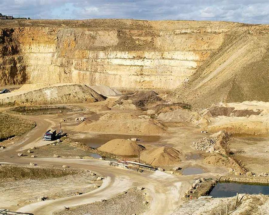 Marsden quarry in South Tyneside. Photograph: Owen Pugh Aggregates